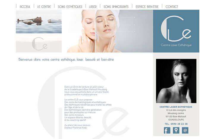 visuel du site www.centrelaseresthetique.net